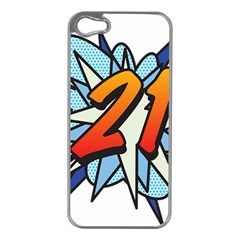 Comic Book 21 Blue Apple Iphone 5 Case (silver) by ComicBookPOP