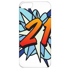 Comic Book 21 Blue Apple Iphone 5 Classic Hardshell Case by ComicBookPOP