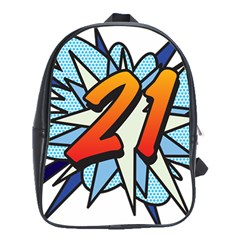 Comic Book 21 Blue School Bags (xl)  by ComicBookPOP