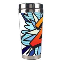 Comic Book 21 Blue Stainless Steel Travel Tumblers by ComicBookPOP