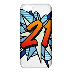 Comic Book 21 Blue Apple Iphone 5c Hardshell Case by ComicBookPOP