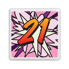 Comic Book 21 Pink Memory Card Reader (square)  by ComicBookPOP