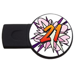 Comic Book 21 Pink  Usb Flash Drive Round (4 Gb)  by ComicBookPOP