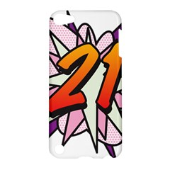Comic Book 21 Pink  Apple Ipod Touch 5 Hardshell Case by ComicBookPOP