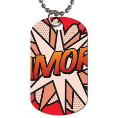 Comic Book Amor!  Dog Tag (two Sides) by ComicBookPOP