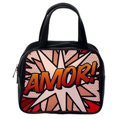 Comic Book Amor!  Classic Handbags (One Side) by ComicBookPOP