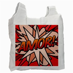 Comic Book Amor!  Recycle Bag (Two Side)  by ComicBookPOP
