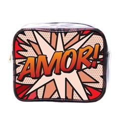 Comic Book Amor!  Mini Toiletries Bags by ComicBookPOP