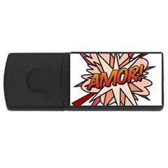 Comic Book Amor! USB Flash Drive Rectangular (2 GB)  by ComicBookPOP
