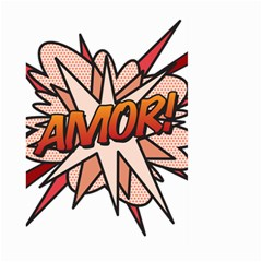 Comic Book Amor! Large Garden Flag (two Sides) by ComicBookPOP