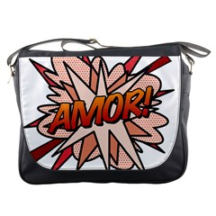 Comic Book Amor! Messenger Bags by ComicBookPOP