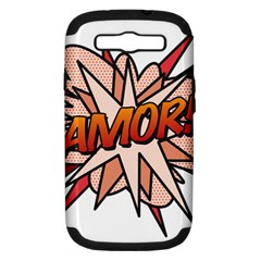 Comic Book Amor! Samsung Galaxy S Iii Hardshell Case (pc+silicone) by ComicBookPOP