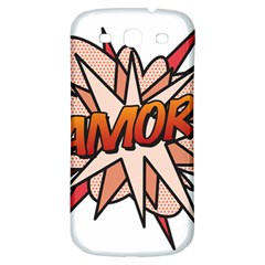Comic Book Amor! Samsung Galaxy S3 S Iii Classic Hardshell Back Case by ComicBookPOP