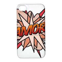 Comic Book Amor! Apple iPhone 4/4S Hardshell Case with Stand by ComicBookPOP