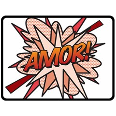 Comic Book Amor! Double Sided Fleece Blanket (large)  by ComicBookPOP