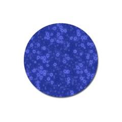 Snow Stars Blue Magnet 3  (round) by ImpressiveMoments