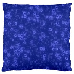Snow Stars Blue Standard Flano Cushion Cases (one Side)  by ImpressiveMoments