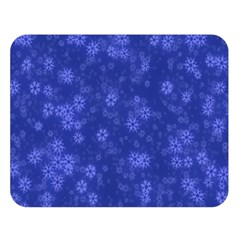 Snow Stars Blue Double Sided Flano Blanket (large)  by ImpressiveMoments