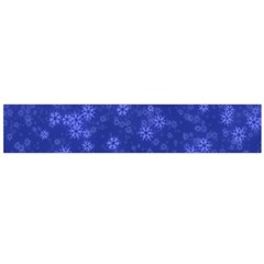 Snow Stars Blue Flano Scarf (Large)