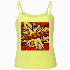 Comic Book Amour!  Yellow Spaghetti Tanks by ComicBookPOP