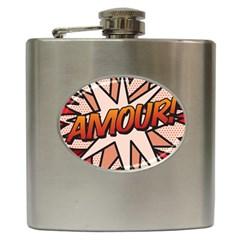 Comic Book Amour!  Hip Flask (6 oz) by ComicBookPOP