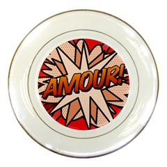 Comic Book Amour!  Porcelain Plates by ComicBookPOP