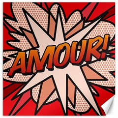 Comic Book Amour!  Canvas 12  x 12   by ComicBookPOP