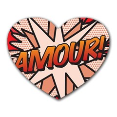 Comic Book Amour!  Heart Mousepads by ComicBookPOP