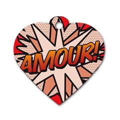 Comic Book Amour!  Dog Tag Heart (One Side) by ComicBookPOP