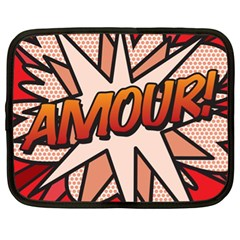 Comic Book Amour!  Netbook Case (xl)  by ComicBookPOP