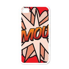 Comic Book Amour!  Apple Iphone 4 Case (white) by ComicBookPOP