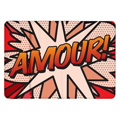 Comic Book Amour!  Samsung Galaxy Tab 8.9  P7300 Flip Case by ComicBookPOP