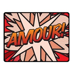 Comic Book Amour!  Double Sided Fleece Blanket (small)  by ComicBookPOP
