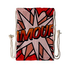 Comic Book Amour!  Drawstring Bag (Small) by ComicBookPOP
