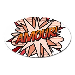 Comic Book Amour! Oval Magnet by ComicBookPOP