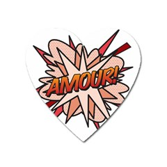 Comic Book Amour! Heart Magnet by ComicBookPOP