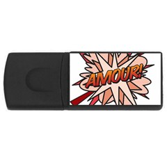 Comic Book Amour! USB Flash Drive Rectangular (2 GB)  by ComicBookPOP