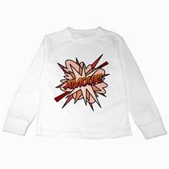 Comic Book Amour! Kids Long Sleeve T-Shirts by ComicBookPOP