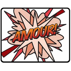 Comic Book Amour! Fleece Blanket (Medium)  by ComicBookPOP