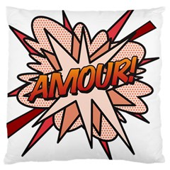 Comic Book Amour! Large Cushion Cases (Two Sides)  by ComicBookPOP