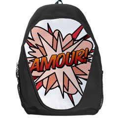 Comic Book Amour! Backpack Bag by ComicBookPOP