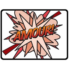 Comic Book Amour! Double Sided Fleece Blanket (large)  by ComicBookPOP