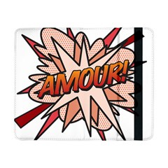 Comic Book Amour! Samsung Galaxy Tab Pro 8 4  Flip Case by ComicBookPOP