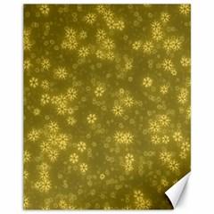 Snow Stars Golden Canvas 11  X 14   by ImpressiveMoments