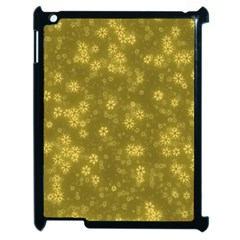 Snow Stars Golden Apple Ipad 2 Case (black) by ImpressiveMoments