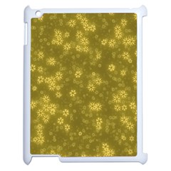 Snow Stars Golden Apple Ipad 2 Case (white) by ImpressiveMoments