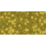 Snow Stars Golden Twin Heart Bottom 3D Greeting Card (8x4)  Back