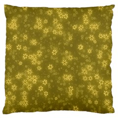 Snow Stars Golden Standard Flano Cushion Cases (one Side)  by ImpressiveMoments