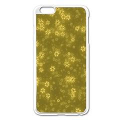 Snow Stars Golden Apple Iphone 6 Plus/6s Plus Enamel White Case by ImpressiveMoments