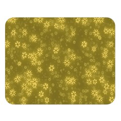 Snow Stars Golden Double Sided Flano Blanket (large)  by ImpressiveMoments